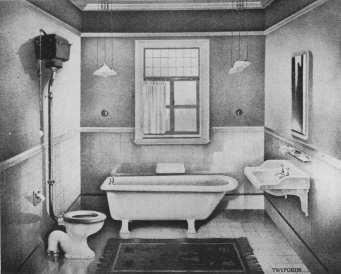 example of bathroom from Twyfords, 1911