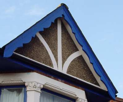 late-Victorian or Edwardian gable