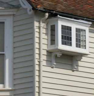 Weatherboarding on Victorian house in Whitstable, Kent